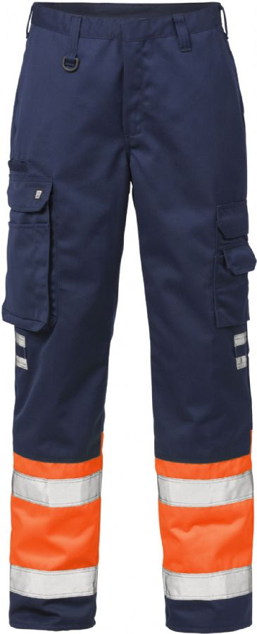 Fristads High Vis Trousers CL 1 213 PLU(Hi Vis Orange/Navy)